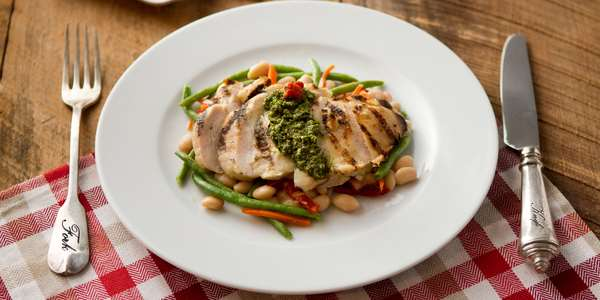 Recipe: Grilled Chicken Pesto