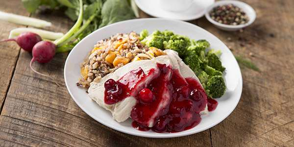 Roasted Turkey Breast with Cranberry Chutney Recipe