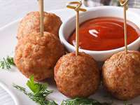 Chicken Feta Meatballs with Pomodoro Sauce Recipe