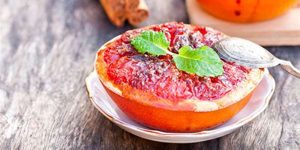 Honey Drizzled Broiled Grapefruit Recipe