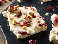 Festive Holiday Cranberry Greek Yogurt Bark