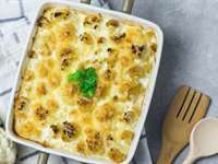 Cauliflower Gratin with Feta & Olives Recipe