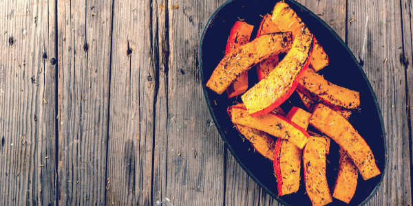 Spicy Roasted Pumpkin Wedges Recipe