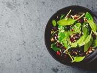 Hearty Winter Salad with Pomegranate Seeds
