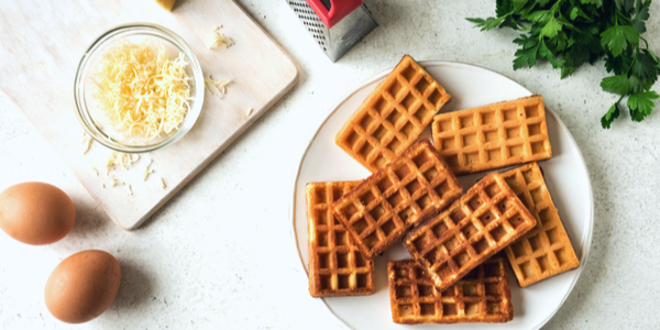 Chaffle Recipe for Healthy Low-Carb Waffles