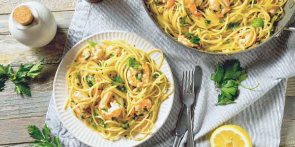 Healthy Garlic Shrimp Scampi Recipe
