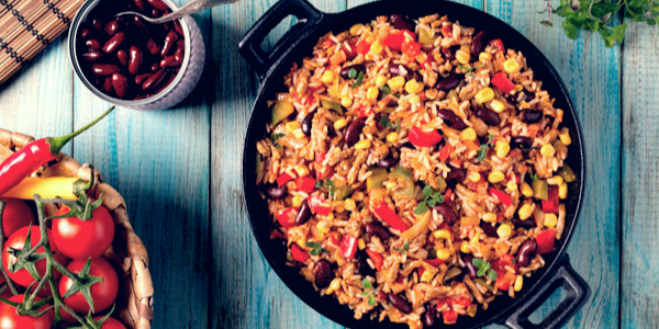 Semi-Authentic Mexican Rice & Beans Recipe