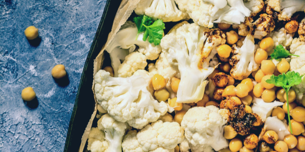 Curry Roasted Butternut Squash & Cauliflower with Chickpeas Recipe