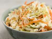 Quick & Healthy Vinegar-Based Cabbage Slaw
