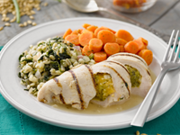 Cheesy Broccoli Cheddar Stuffed Chicken