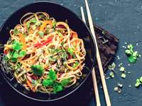 Asian Zoodle Salad with Almond Butter Soy Dressing