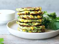 Healthy Corn & Zucchini Fritters Recipe
