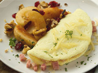 Canadian Bacon & Swiss Omelet Recipe