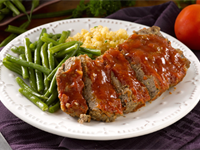 Meatloaf with Honey Bourbon Glaze Recipe