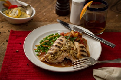 Recipe: Chicken Stuffed with Wild Rice